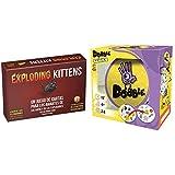 Exploding Kittens- Juego de Cartas (EKEK0001) + Asmodee - Dobble - Español, Multicolor (57)