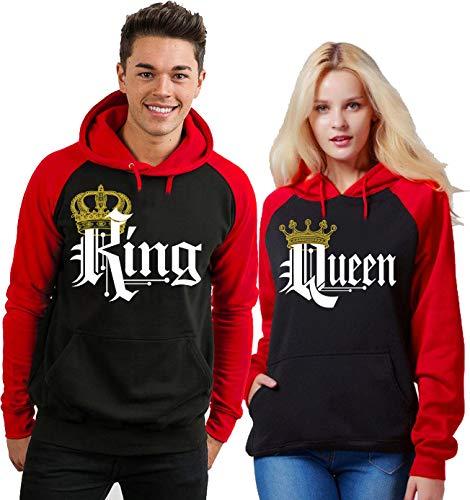 King and Queen - Matching Couples Hoodies Set His and Hers Hoodie Women Medium Men Medium