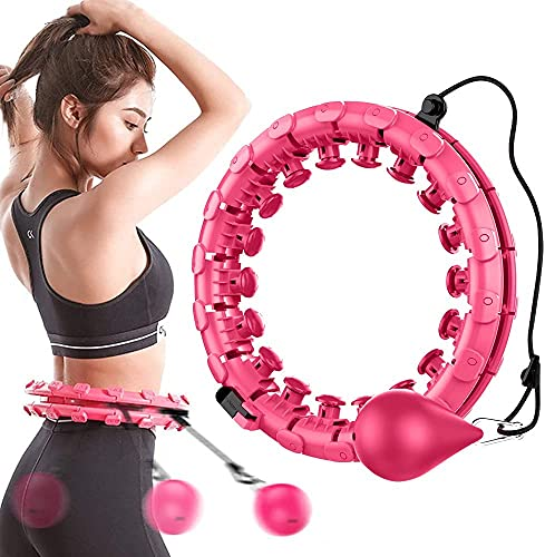 51-inch smart weighted hula hoop, 24 detachable sections, two-in-one...