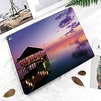 新しい iPad Pro 11 ケース (2018モデル)スタンド機能 iPad Pro 11 インチ (2018新型) 保護カバー 軽量 薄型 シンプル 2つ折タイプ 全面保護型 傷つけ防止 iPad pro 11手帳型 (iPad pro 11 (2018))劇的な夜の楽園で海の上のライトとアーバーモルディブ空絶妙な海岸ビュー