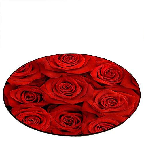 Preisvergleich Produktbild Moderner kreativer Teppich,  3D Rosen-Wolldecken-Persönlichkeitsmatt... Blumen-Auflage 23.62 * 23.62in / 31.49 * 31.49in / 39.37 * 39.37in / 47.24 * 47.24in / 62.99*62.99in Schlafzimmer-Wohnzi