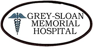 Grey Sloan Memorial Patch, 4x2in Printed Novelty Applique Patch