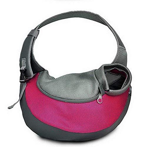BIGWING Style Borsa da viaggio per cani Trasportino da passeggio ideale per cani o gatti piccola - Rosa, L