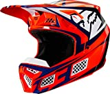 Fox V3 Idol Helmet, Ece Orange/Blue
