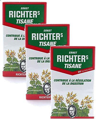 ✅ Tisane Ernst Richter spécial Transit   Plusieurs conditionnements   Lot de 3 boîtes de 20 infusions + en cadeau : sous-tasse en silicone ⭐️ (Lot de 3)