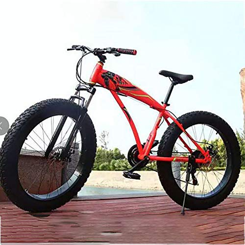 LTJY Adult Mountain Bike, 7/21/24/27 Speeds, 24 Inch Wheels, Mens Medium Frame, red,21 speed