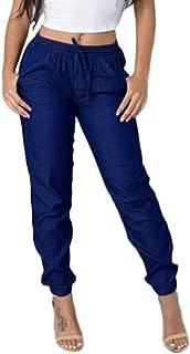 TIMEMEANS Fashion Casual New Ladies Pants Women High Waist Jeans