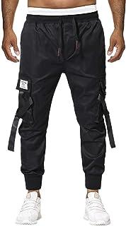 Xmiral Pantalone Uomo Vintage Trouser Plaid Lungo Casual Scozzese Multi-Tasca
