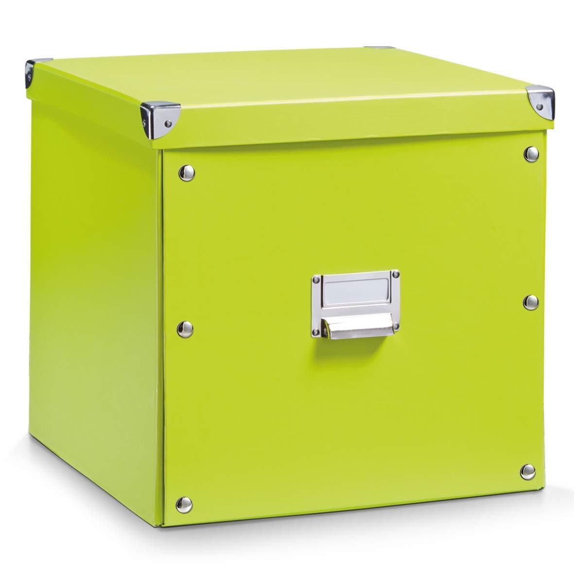 Zeller 17636 Caja de almacenaje de cartón Verde (Grun) 33.5 x 33 x 32 cm: Amazon.es: Hogar