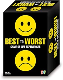 Best to Worst Game of Life Experiences Laugh Out Loud Game for Ages 16 and Up