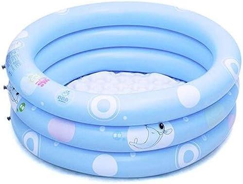 Planschbecken, Aufblasbares Schwimmbecken, Familienschwimmbecken, Kinderplanschbecken, Erholungsbecken, Verschlei st, Warm Halten GAOFENG (Farbe   Blau, Größe   125  43cm)