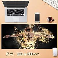 Vampsky 拡張大型ゲームマウスマット日本のアニメワンピース - バルカンエースプロフェッショナルEsportsもマウスノートパソコン用のパッド厚み付けノンスリップ耐水性ラバーベース布コンピューターホームオフィス90 * 40センチメートル (サイズ : Thickness: 5mm)