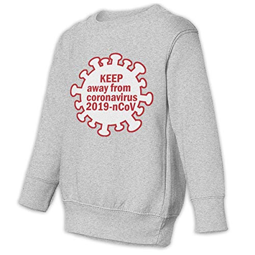 Unbrands Youth Keep Away from Coronavirus-ncov Cotton Sweatshirts Hoodies Without Pockets
