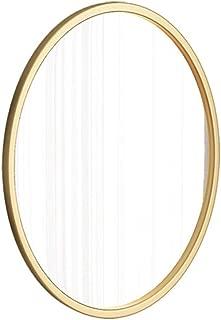 Oval Wall Bathroom Mirror Hanging Mirror | Circle Wall Mounted Vanity Makeup and Shaving Mirror | Circle Plane Mirror | Modern Decorative Mirror | Gold Metal Frame (Size : 40×65cm)