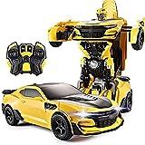 BJYG Voiture RC, Robot de déformation de détection de Mouvement sur chenilles 4x4, Voiture Jouet télécommandée King Kong Hornet Autobot, Voiture de Cascade de transformateurs 2.4G RC po