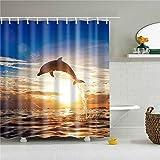MIKUAM DuschvorhangSchöne Tiere Katze H&e Giraffe Kaninchen Duschvorhänge Frabic Wasserdicht Polyester Duschvorhänge Badvorhang mit Haken