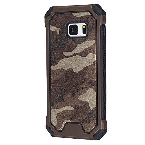 bagmaxx Samsung Galaxy S7 G930 Handy Tasche Outdoor Case TPU Hybrid Camouflage Schutz Hülle Armoro Braun