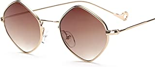 Women Eyewear Designer Sunglasses Oculos Square Fashion Blue Purple Gray Alloy Mirror