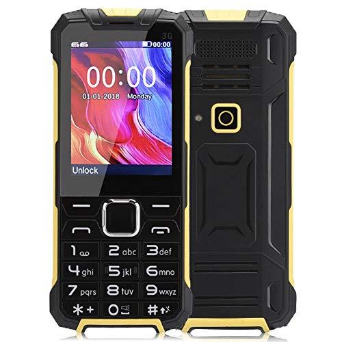 Teléfono Celular Inteligente Desbloqueado para Personas Mayores, teléfono móvil de 2.8 Pulgadas con Doble Tarjeta 3G y Doble botón con 64 MB + 32 MB, Radio FM para Ancianos, 100-240 V.(EU)