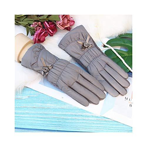 ULEEMARK Ladies Autumn And Winter Half Finger Cute Long Gloves Fingerless Wool Arm Sleeve