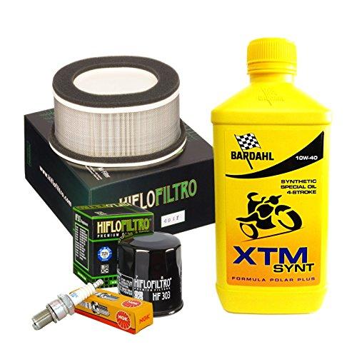 Kit de révision Bardahl XTM 10W40 filtre à huile à air bougies Yamaha FZS 1000 Fazer