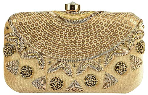 Tooba Girls' Clutch (gold sequence necklace 6x4_Gold)