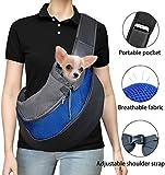 Mochila para Perros y Gatos, Mochila de Viaje al Aire Libre para Conejos, Mochila para Perros de hasta 5 kg (Talla L, Azul).