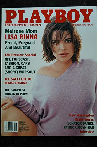PLAYBOY US 1998 09 COVER LISA RINNA MELROSE MOM VANESSA GLEASON INTERVIEW SENATOR DANIEL PATRICK MOYNIHAN
