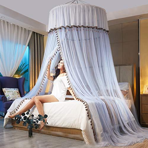Einfache Installation Hängendes Bettnetz Für Mädchen Weißes Bettdach Für Doppel- / Einzelbett Großes Moskitonetz Für Bett Ideal Für Dekorative Schlafzimmer Reisen Camping,C-1.8m(6feet)bed-Withoutlight