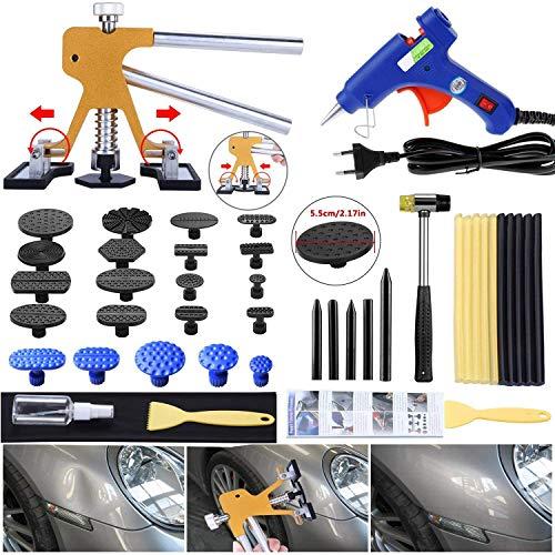 Randalfy Auto Dent Puller Kit - Einstellbare Werkzeuge zur Entfernung von goldenen Dellen Abziehwerkzeug für lackfreie Dellen Reparaturset für Dent Lifter Puller für große und kleine Ding Hagel