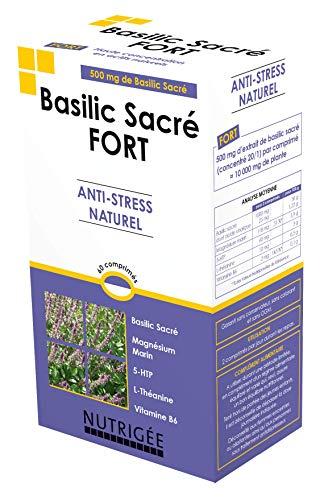 Basilic Sacré Fort - 60 Comprimés - Fabriqué en France Existe en format 15 et 30 comprimés
