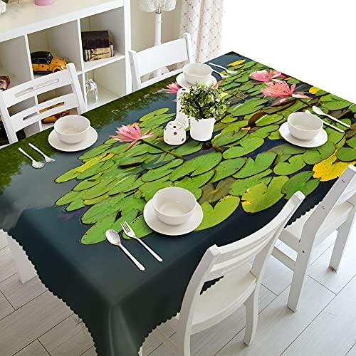 XXDD Mantel 3D Pastoral Verde Bosque Paisaje patrón Mesa de Comedor Lavable Rectangular Mantel A1 150x210cm