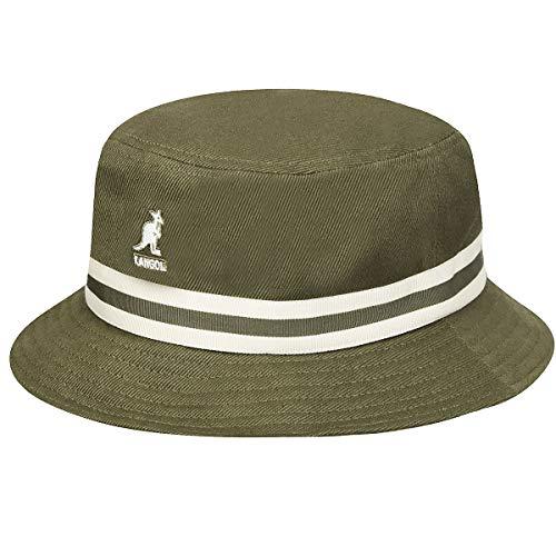 Kangol Lahinch Fischerhut mit Streifen - Moosgrün - L