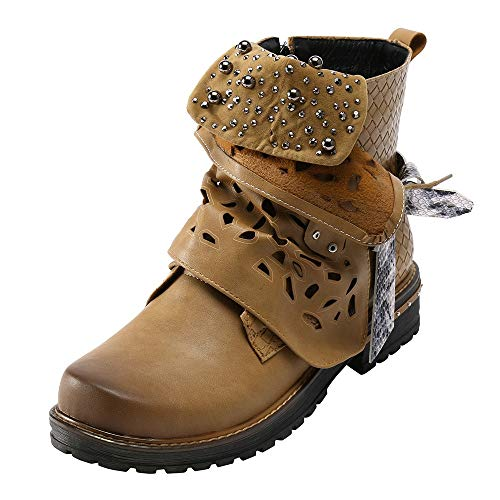 Leder Schnalle Cowgirl Boot Damen Stiefel Pearl Oxford Boot Side Cowgirl Boot