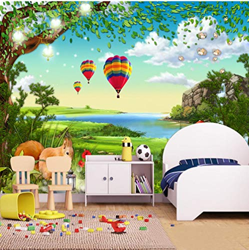 Fotomurales Papel pintado tejido no tejido Decoración de Pared decorativos Murales moderna de Diseno Fotográfico-Hermoso paisaje marino roca globo aerostático