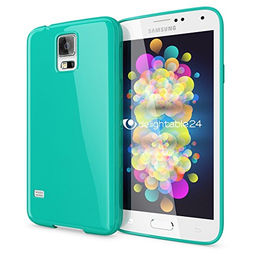 NALIA Custodia compatibile con Samsung Galaxy S5 S5 Neo, Cover Protezione Ultra-Slim Case Protettiva Morbido Cellulare in Silicone Gel, Gomma Jelly Telefono Bumper Sottile - Turchese