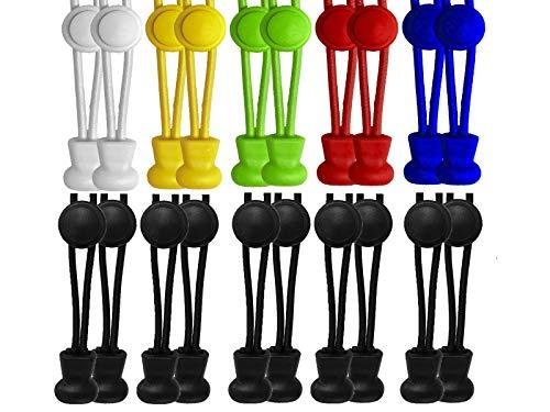 scarlet sport | Schnürsenkel »Premium«, 10 Paar Flex-Schnürsenkel, elastisch, mit Schnellverschluss & Schnellschnürsystem, passend für jeden Schuh, perfekter Halt, Menge: 20 Stück je 120 cm