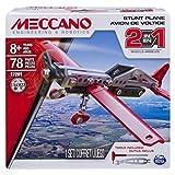 Meccano 2-in-1plane Jeu de construction d'avion de combat 78pièce (s)–Jeux de construction (Jeu de construction d'avion de combat, 8ans (s), 78pièce (s), noir, rouge, argent, Chine, 190g)