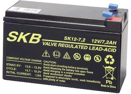 BATTERIA AL PIOMBO RICARICABILE SKB (12 Volt - 7,2 Ampere) - GBC 38640704