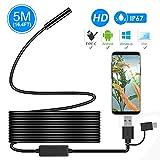 Endoscopi, *ihong Android *OTG 5M impermeable serp HD càmera d'inspecció de vídeo endoscopi amb 6 llueixes LED cable de seguretat apte per a Samsung *Galaxy/SONY/*Nexus Android Telèfon intel·ligent i Ordinador
