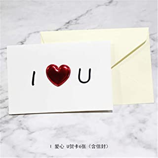 Blank Greeting Card Teacher'S Day Thanksgiving Greeting Card Creative Diy Love Heart Birthday Blessing Card Thank You Card Express Message Card Excluding Envelope (6Pcs) 1015Cm