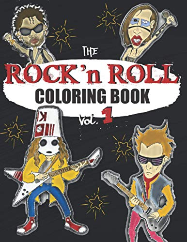 ROCK N ROLL COLORING BOOK: A music coloring book for adults - For rock, hard rock and heavy metal fans - exclusive designs