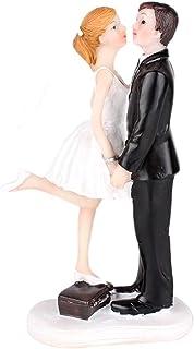 SwirlColor décoration de gâteau de Mariage en Forme de Figurine en résine du Couple en baisant pour Le Mariage