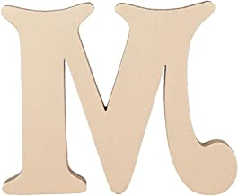 Letter-O-Holic Victorian Wooden Alphabet Letters Hand Finished Free-Standing/Wall Mounted Decor (Gold, Letter-M)