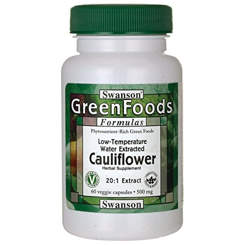 Swanson Cauliflower 20:1 Extract 500 Milligrams 60 Veg Capsules