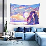 Multi-function Ultra Soft Lightweight Polyester Tapestry As Gifts,Sword Art Online Kirito Kiss Yuuki Asuna Art Decor Wall Hanging Tapestries For Living Room Dormitry Table Sofa Cover 60x40'