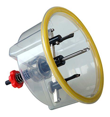 Falke Kreisschneider FKS-X (mit Schutzhaube) - Universal für Holz, Kunststoff, Gipskarton und mehr | Durchmesser stufenlos einstellbar (48-150 mm)