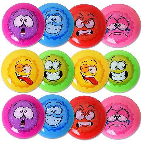 TE-Trend 12 Stück Emoji Fensterläufer Fensterkletterer Wand Klettermännchen Kinder Spielzeug Geschenk Mehrfarbig