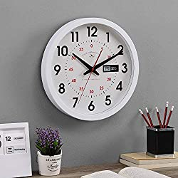 FirsTime & Co. White Harris Day Date Clock