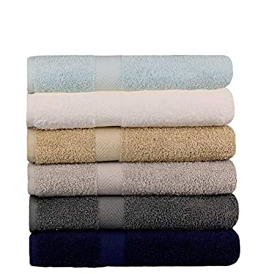 "BEST TOWEL 6-Pack Bath Towels - Extra-Absorbent - 100% Cotton - 27"" x 54"""